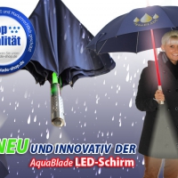 AquaBlade LED-Regenschirm